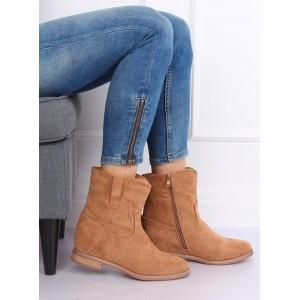 Dámske zateplené topánky v béžovej farbe