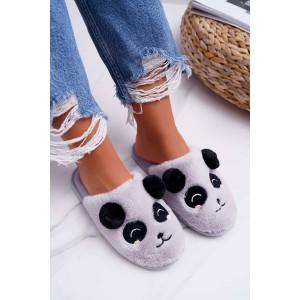 Sivé dámske pohodlné papuče