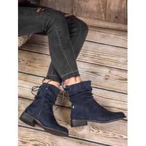 Moderné dámske topánky v modrej farbe
