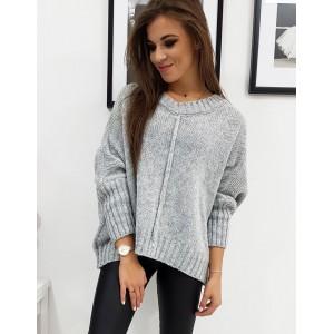 Pletený dámsky teplý sveter v béžovej farbe