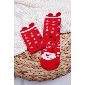 Mikulášske ponožky v červenej farbe