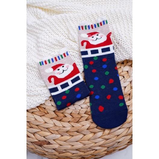 Vianočné ponožky s farebnými guličkami