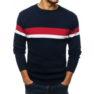 Kvalitný pánsky sveter v modrej farbe