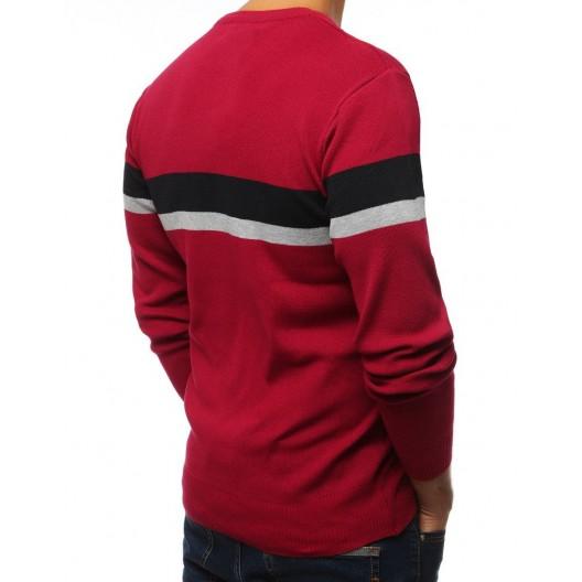 Pohodlný pánsky sveter v červenej farbe