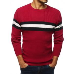 Červený sveter na zimu pre pánov