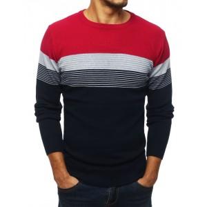 Moderný pánsky sveter v bordovej farbe