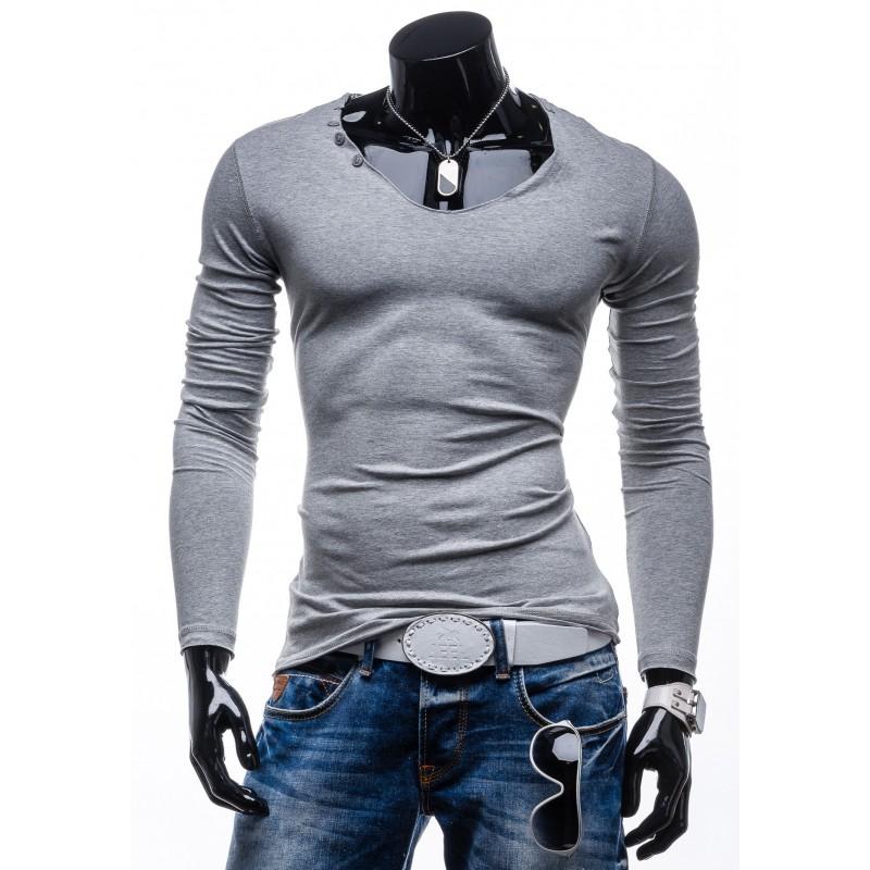 6de018ad9ce4 Predchádzajúci. Pánske tričko s dlhým rukávom sivej farby ...