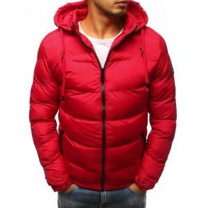 Pánska zimná bunda v červenej farbe