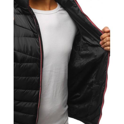 Pánska zimná bunda v modernom prevedení v čiernej farbe