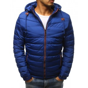 Pánska bunda na zimu v modrej farbe