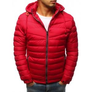Červená pánska bunda na zimu