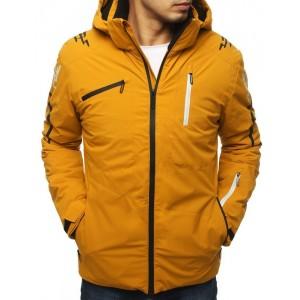 Žltá bunda na lyžovanie s odnímateľnou kapucňou