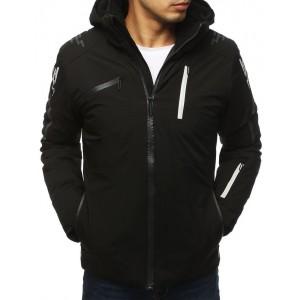 Štýlová pánska lyžiarská bunda v čiernej farbe
