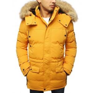 Pánska zimná bunda s kožušinou