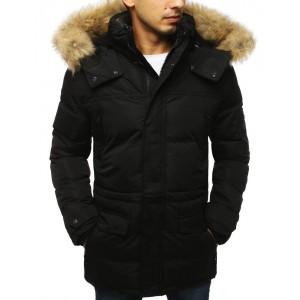 Štýlová zimná bunda pre pánov v čiernej farbe