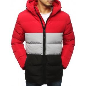 Prešívaná pánska zimná bunda s kapucňou