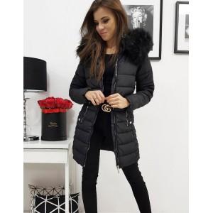 Štýlová dámska zimná bunda v čiernej farbe