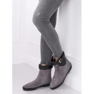 Sivé dámske gumené topánky v sivej farbe