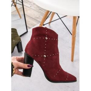 Dámske bordové topánky na vysokom podpätku