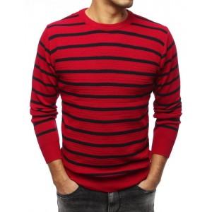 Klasický pánsky sveter v červenej farbe