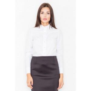 VEĽKOSŤ L/40 Dámska biela formálna košeľa