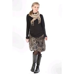 VEĽKOSŤ M Farebná letná tehotenská sukňa s elastickým pásom
