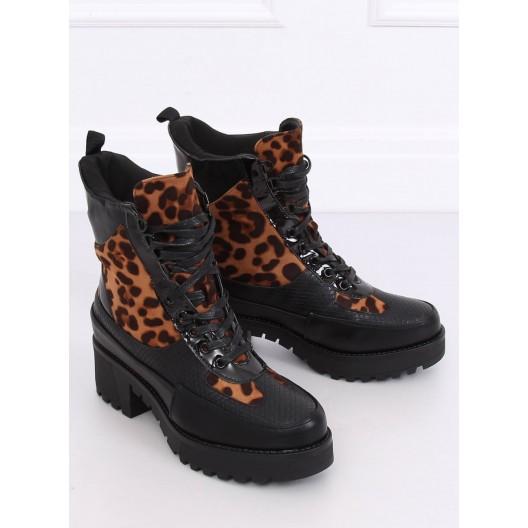 Tigrované dámske topánky na zimu