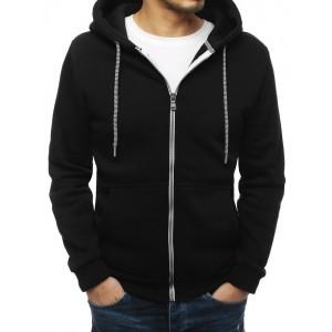 Pánska mikina na zips v čiernej farbe