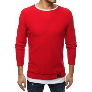 Štýlový pánsky sveter v červenej farbe