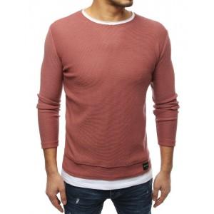 Pánsky sveter na jar v ružovej farbe