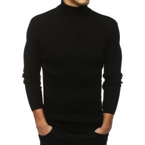 Pánsky sveter rolák v čiernej farbe