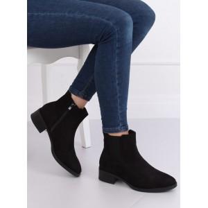Nízke dámske semišové topánky na zimu