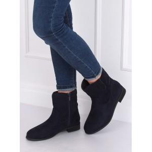 Zimné dámske topánky v modrej farbe