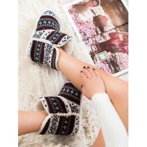 Dámske teplé papuče v nórskom vzore