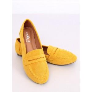 Slip on dámske mokasíny v krásnej žltej farbe