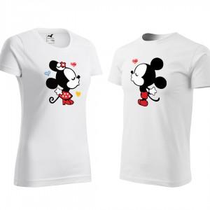 Set tričiek na Valentína s potlačou mickey a minnie