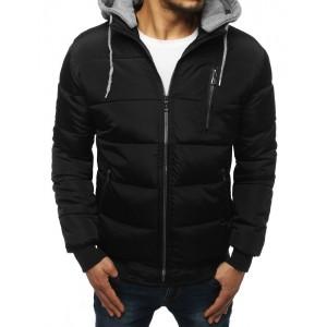 Zateplená pánska zimná bunda v čiernej farbe