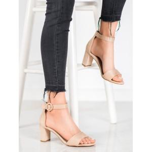 Elegantné dámske sandále na hrubom podpätku