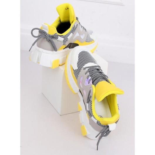 Pohodlné dámske letné tenisky žltej farby