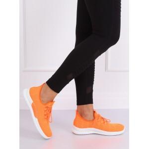 Priedušné dámske oranžové fitnes tenisky