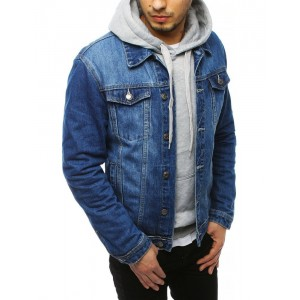 Klasická pánska jeansová bunda so zapínaním na gombíky