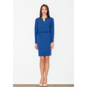 Modré dámske šaty nad kolená