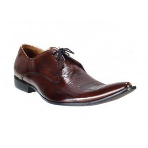 Pánske kožené extravagantné topánky hnedé ID:607