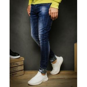 Pohodlné pánske modré džínsy s troma prednými vreckami