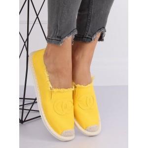 Žlté dámske letné espadrilky