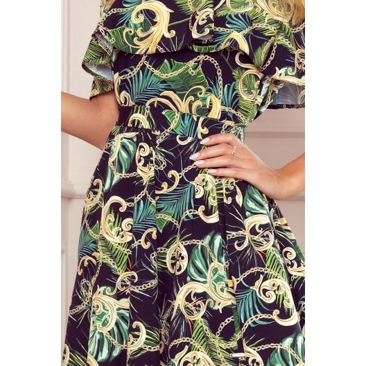 Letné dámske dlhé maxi šaty s rafinovaným rozparkom