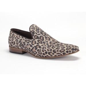 Leopardie pánske kožené mokasíny COMODO E SANO