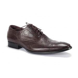 Kvalitné pánske kožené topánky v hnedej farbe