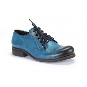 Kvalitné pánske kožené topánky COMODO E SANO v modrej farbe
