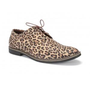 Kožené pánske extravagantné topánky v tigrovanom motíve